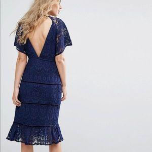 Dresses & Skirts - Foxiedox navy blue lace dress